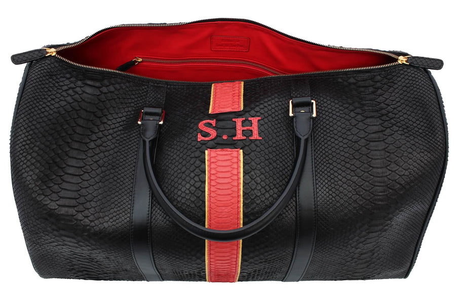 S.H Initialed Python Duffle