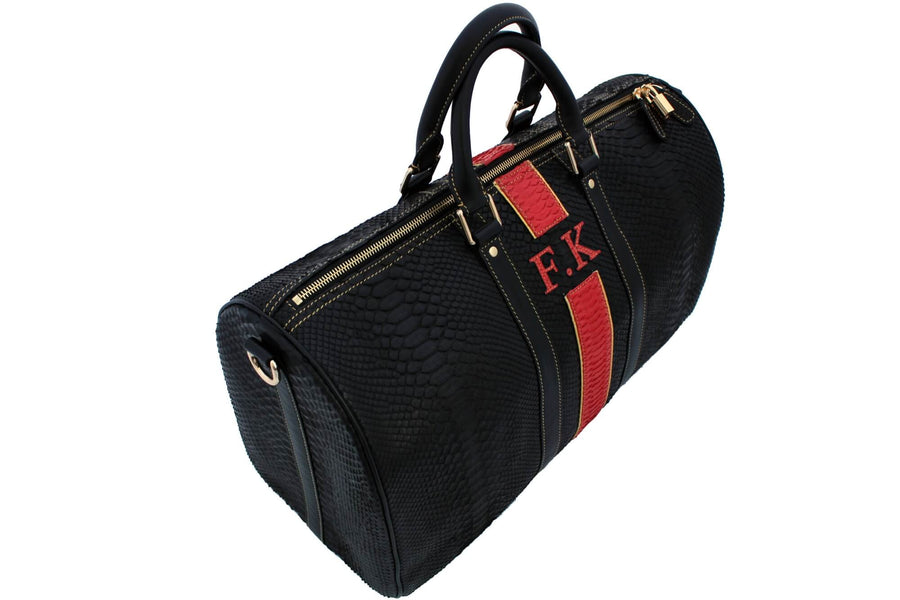 Personalized Golden Touch Python Duffle Bag