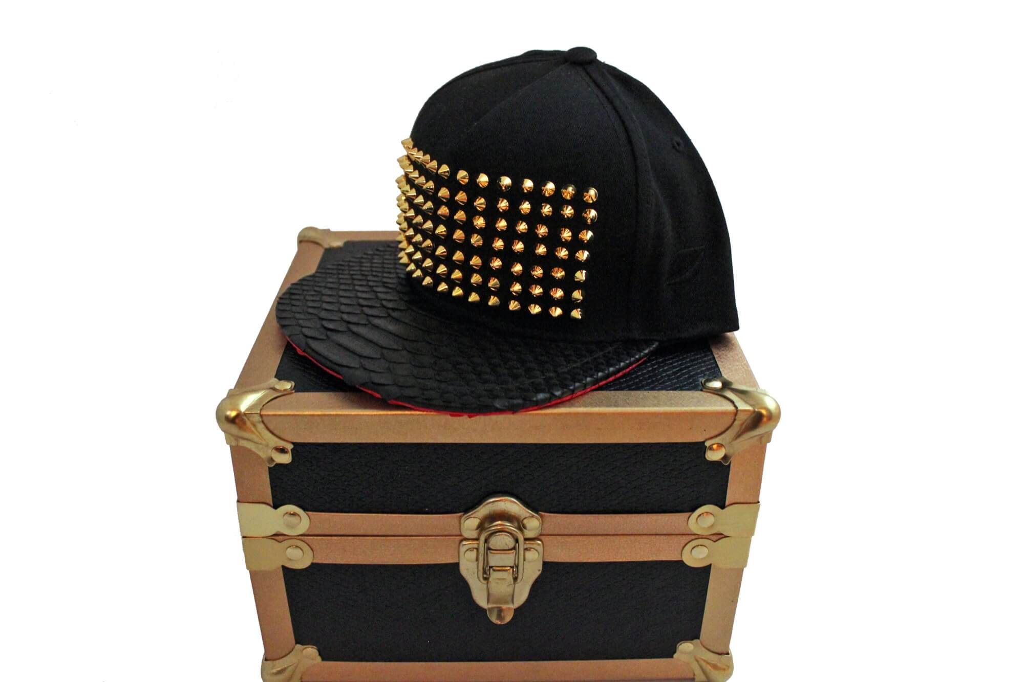 Red Python Bottom Strapback W Custom Case