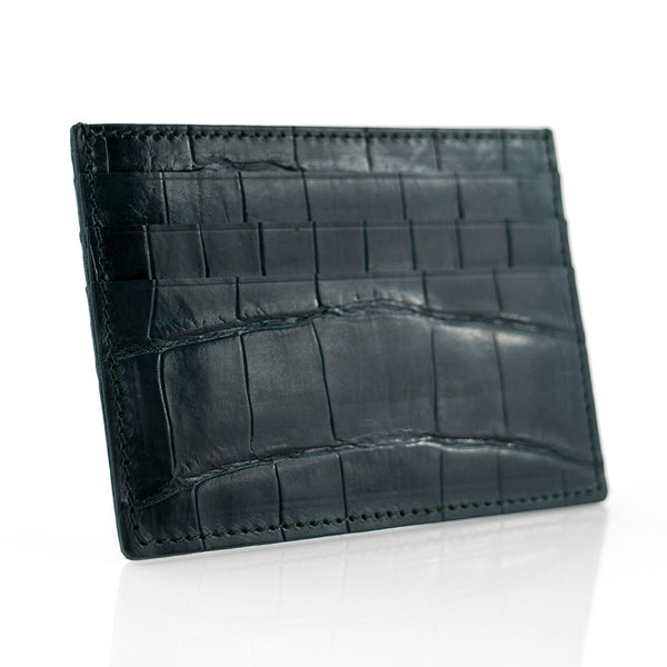 Forest Crocodile Skin Card Holder