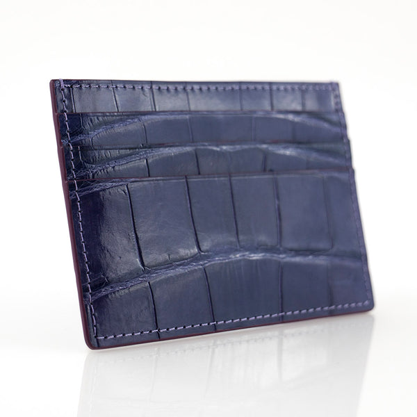 Iron Crocodile Skin Card Holder