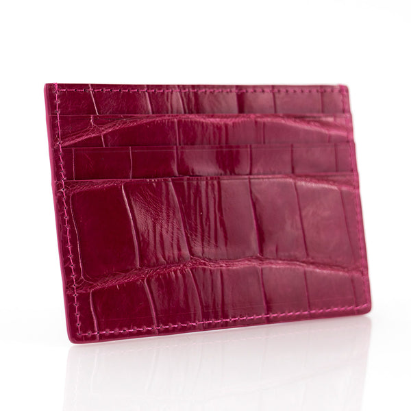 Ruby Crocodile Skin Card Holder