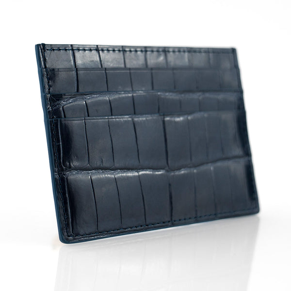 Shadow Crocodile Skin Card Holder