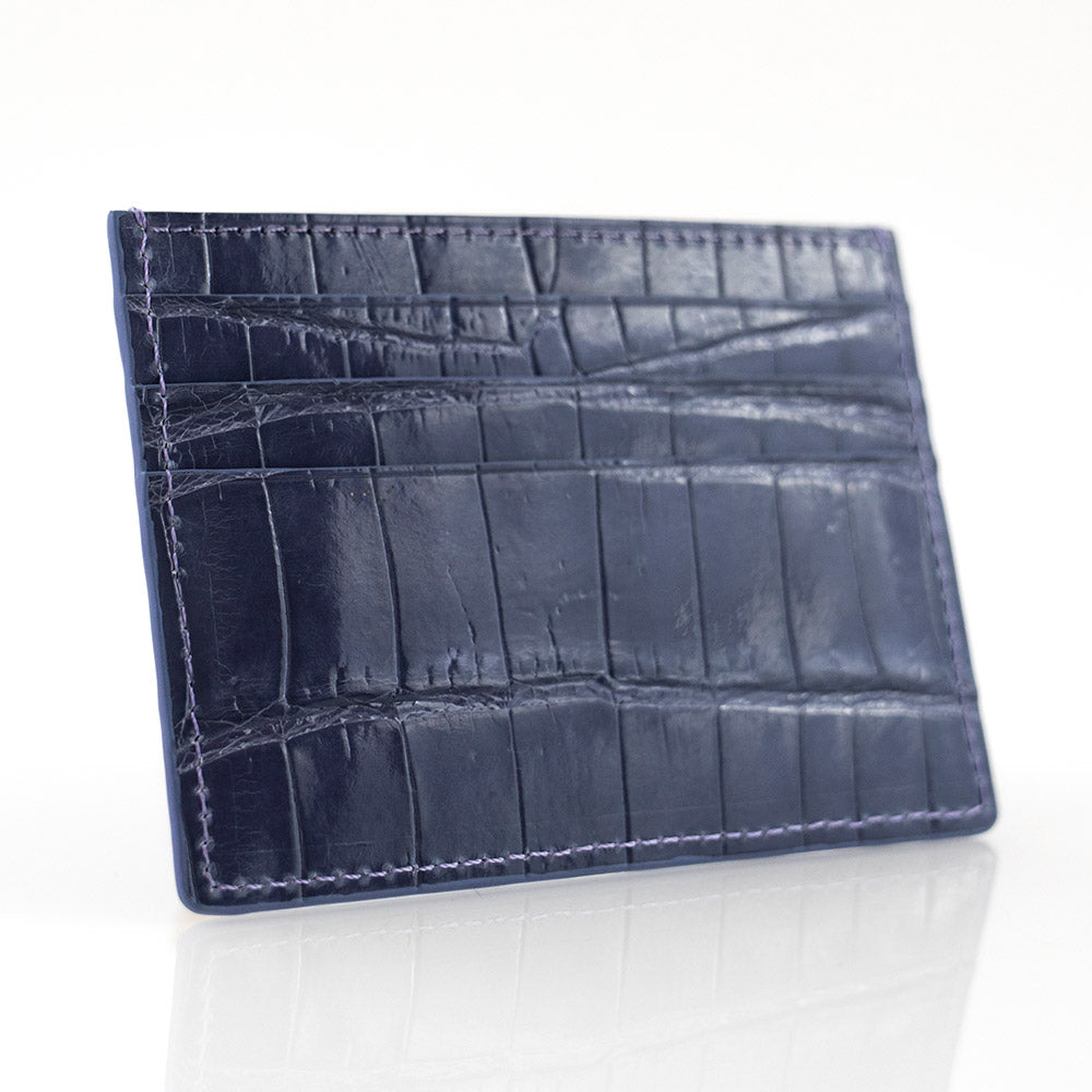Anchor Crocodile Skin Card Holder