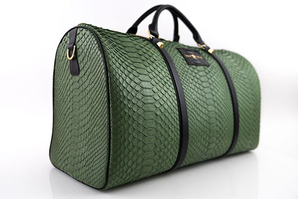 FULLY CUSTOMIZED PYTHON SKIN DUFFLE BAG