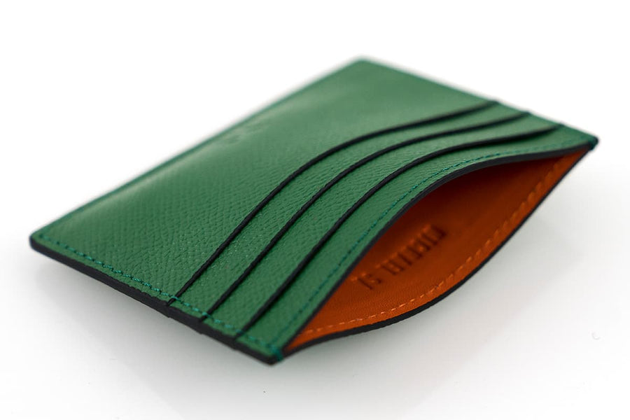 Green Epsom Leather Card Holder