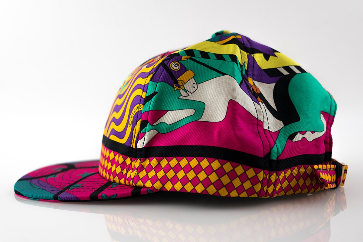 Hermes Steeple Chase Silk Scarf Cut & Sew Hat