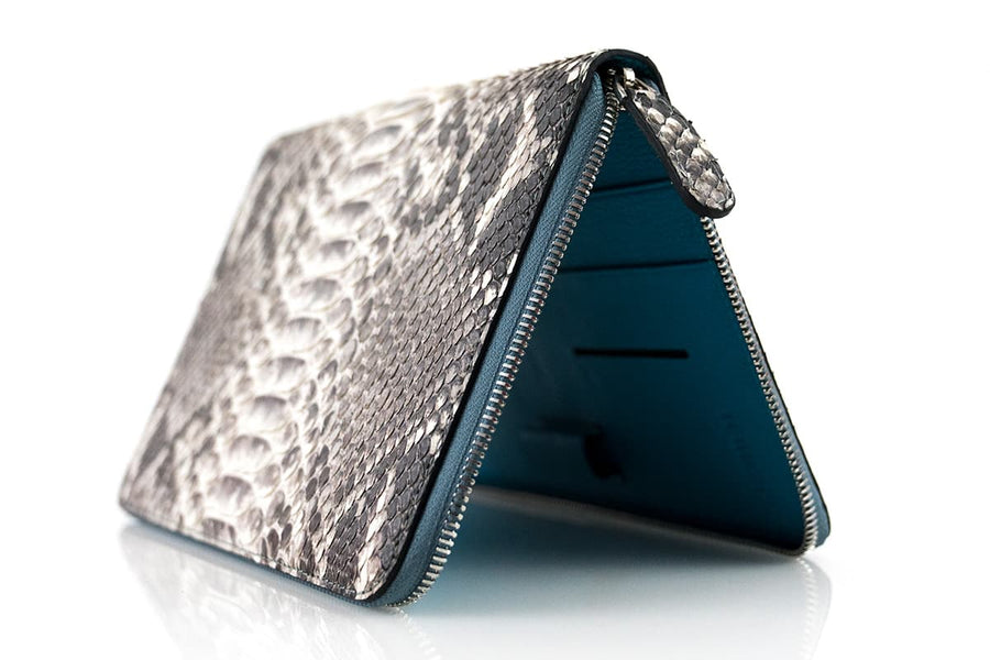 NATURAL PYTHON SKIN 6 PASSPORT HOLDER