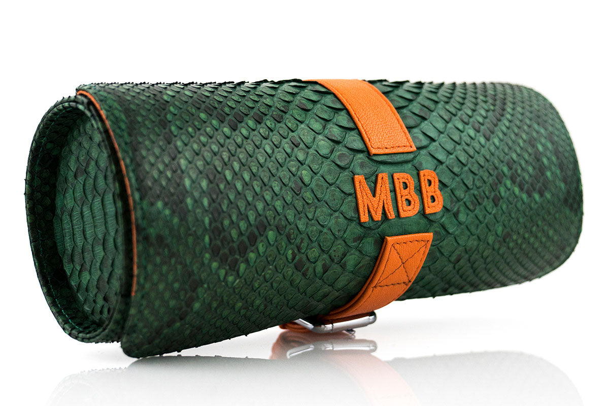 Personalized Green Python Roll