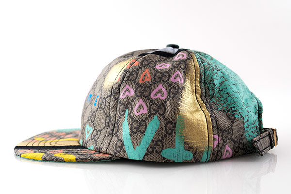 GucciGhost Graffiti Silk Scarf Cut & Sew Hat