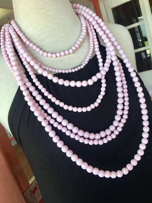 Blush Pink Laurel Necklace