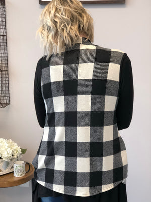 Perfectly Plaid Vest- Cream