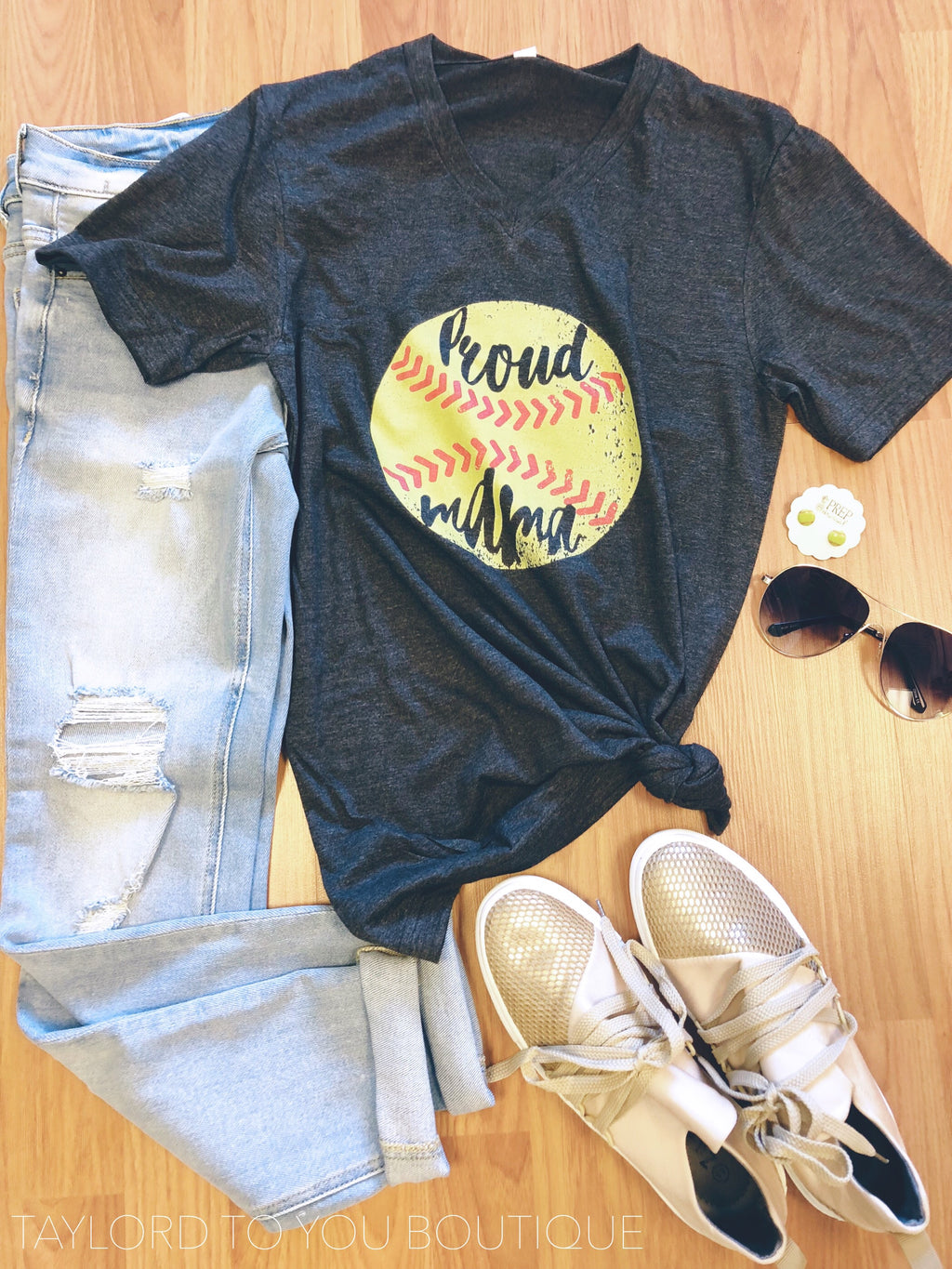 Proud Mama Softball Tee