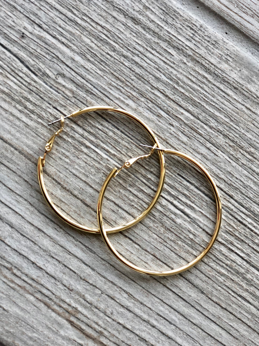 Shiny Gold Hoops