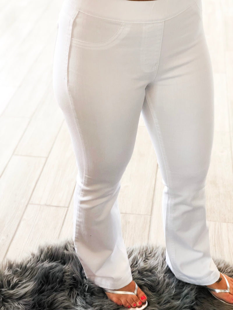 White Wash Flare Jegging
