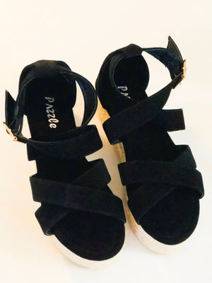 The Maci Espadrille Sandal - Black