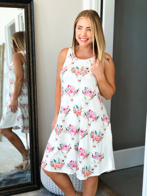 Steer and Flowers Dress