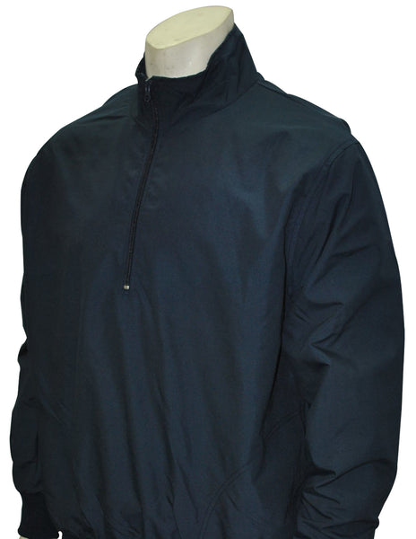 BBS321-Solid Navy Half Zip Umpire Pullover - Available in Navy Only