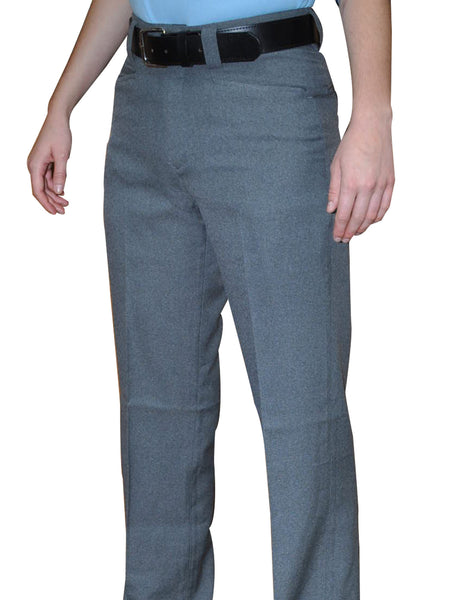 BBS379-Smitty Women's Flat Front Combo Pants-Heather Grey Only