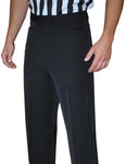 BKS280-Smitty Lightweight Black Flat Front Pants w/ Western Cut Pockets