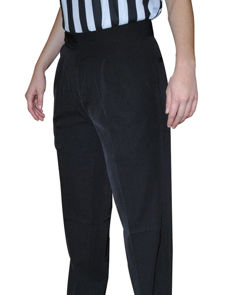 BKS272-Smitty Women's 100% Polyester Pleated Pants w/ Slash Pockets