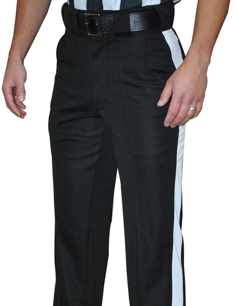 "FBS183-Smitty Black Warm Weather Pants w/ 2"" White Stripe"