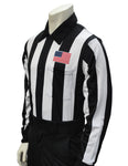 USA110- Smitty USA - Dye Sub Football Long Sleeve Shirt w/ Flag over Pocket