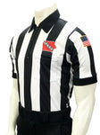 USA137IA- Smitty USA - Dye Sub Iowa Football Short Sleeve Shirt 2.25inch Stripe
