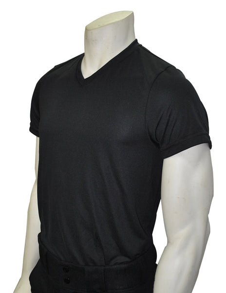 USA409-Black V-Neck Loose Fit T-shirt