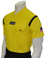 USA900LA YW-Dye Sub Louisiana Yellow Soccer Short Sleeve Shirt