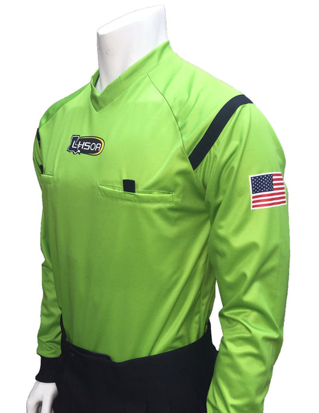 USA901LA GR- Dye Sub Louisiana Green Soccer Long Sleeve Shirt