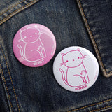 Resist + Power Cat Pin