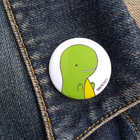 T-rex Flipping the Bird Pin