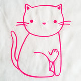 Cat Flipping the Bird - Ladies Cut - Short Sleeve, Crew Neck
