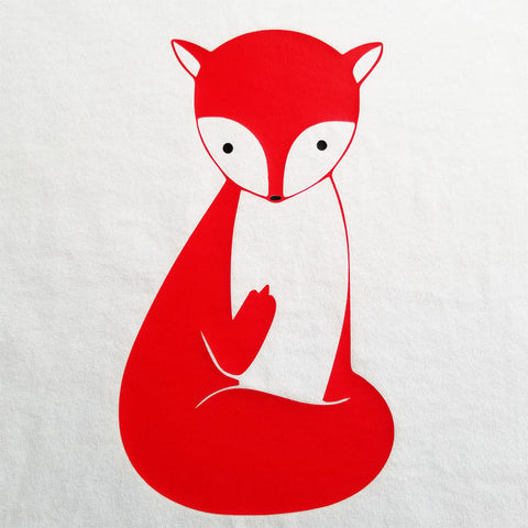 Fox Flipping the Bird - Ladies Cut, Short Sleeve, Crew Neck