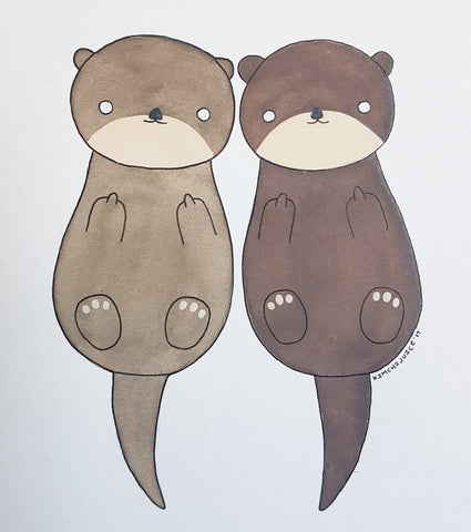 Otter Couple
