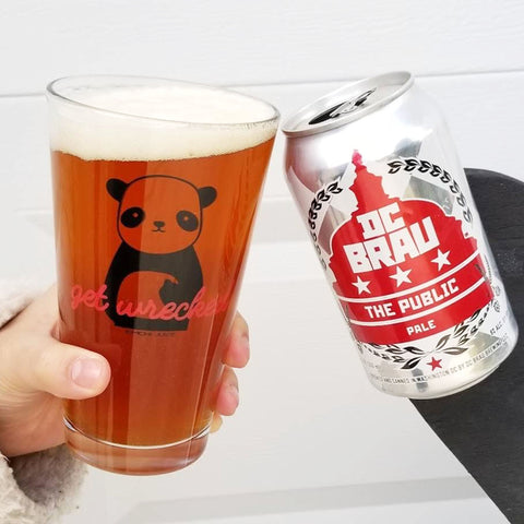 Get Wrecked Panda Pint Glass