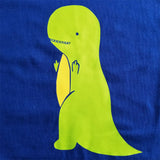 T-Rex Flipping the Bird - Unisex, Short Sleeve, Crew Neck