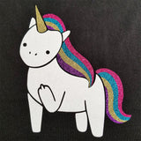 Unicorn Flipping the Bird - Ladies Cut, Short Sleeve, Crew Neck