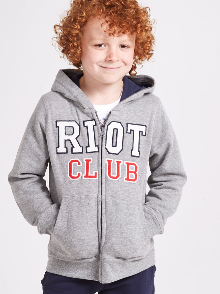 'Riot Club' Zip Hoodie 2-14 Years