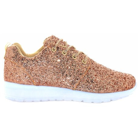 Rose Gold Glitter Trainers