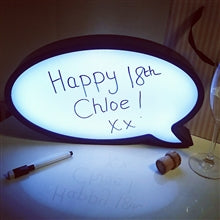 Lightup Speech Bubble with Pen