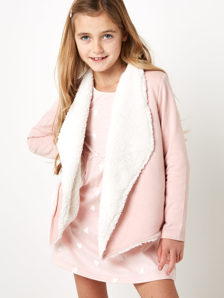 Sweatshirt Jacket With Sherpa Lining 2-8 Years