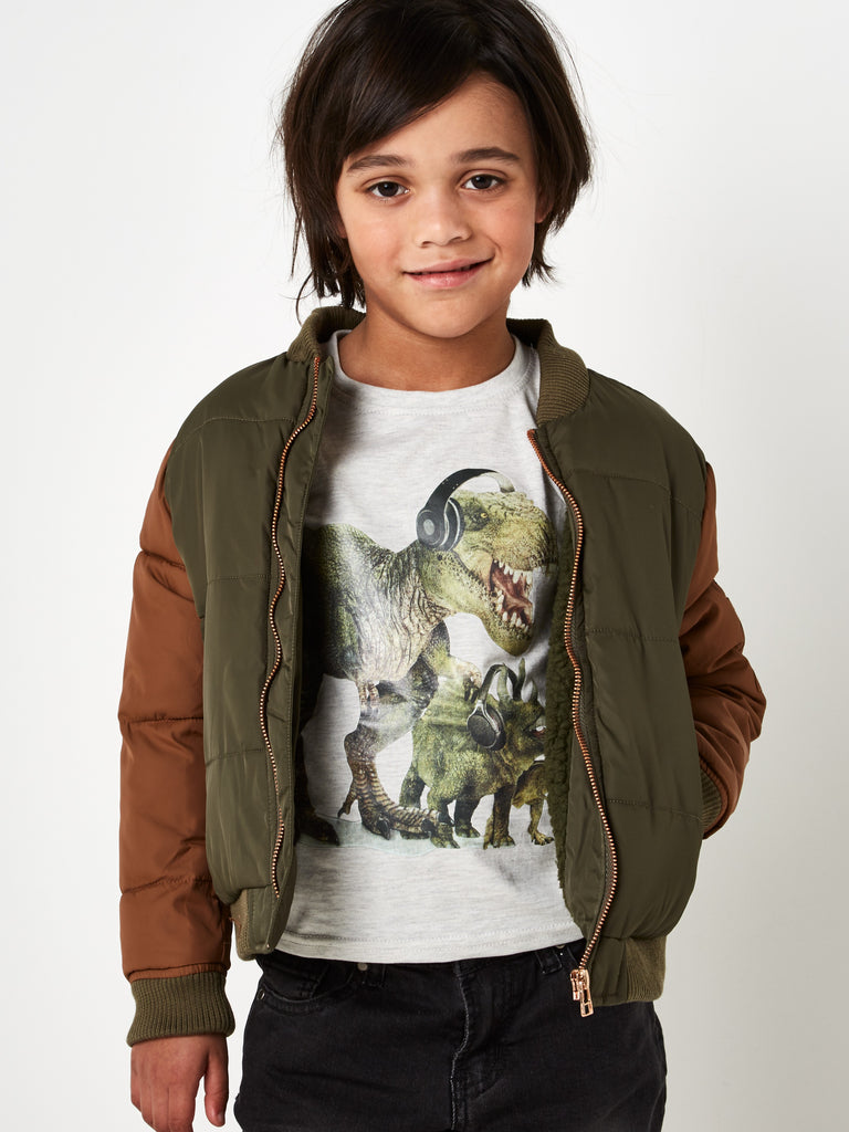 Khaki Padded Jacket 2-8 Years