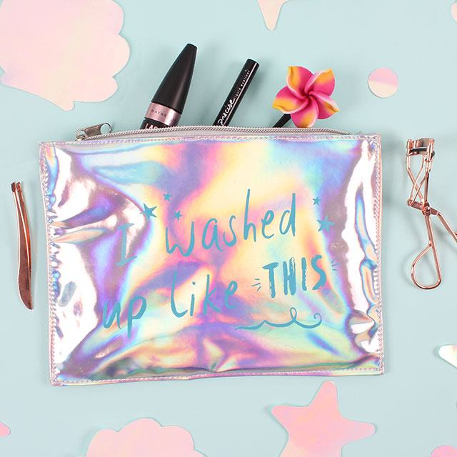 """I washed up like this"" Make Up Pouch"