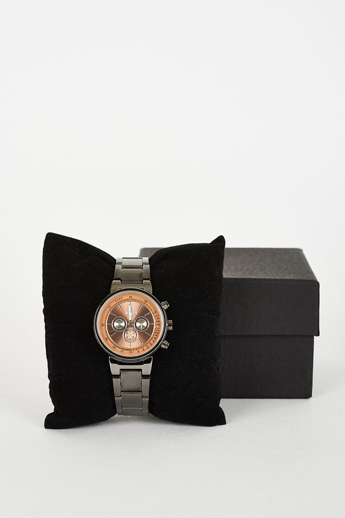 Bracelet Brown Watch With 3 Decorative Sub-Dials