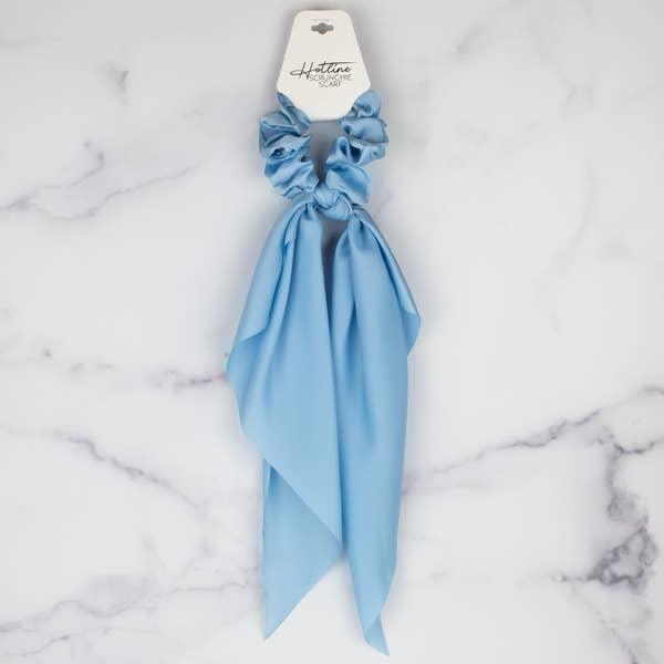 Hotline Powder Blue Scrunchie Scarf