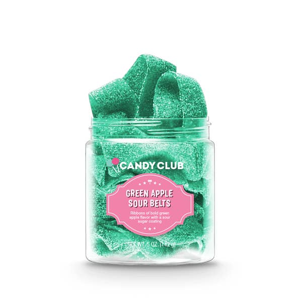 Candy Club Sour Green Apple Belts