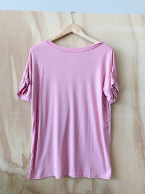 Basic Boyfriend Pocket Tee: V.Rose