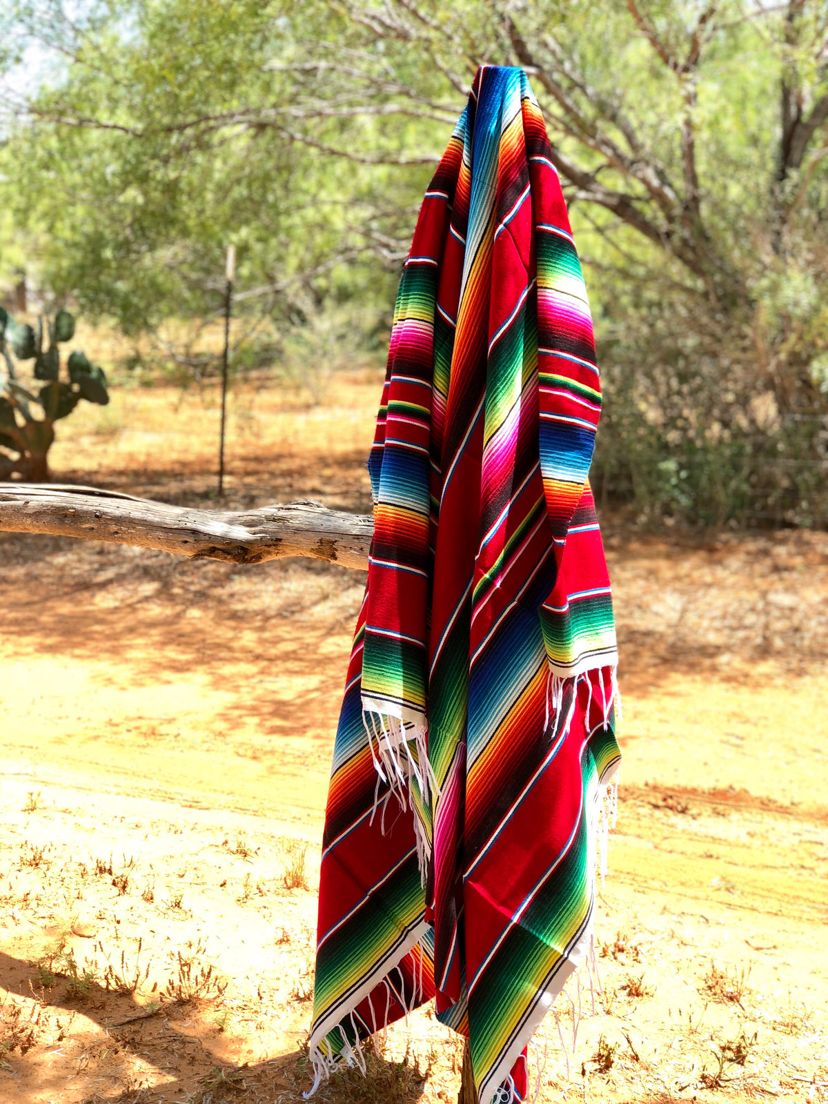 Authentic Red Serape Blanket